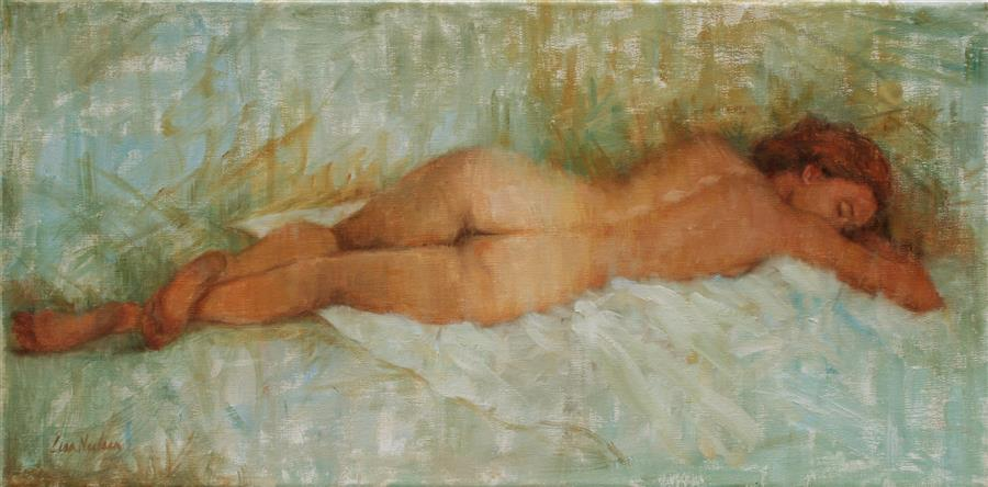 Original art for sale at UGallery.com | Restful by LISA NIELSEN | $600 |  | 10' h x 20' w | ..\art\oil-painting-Restful