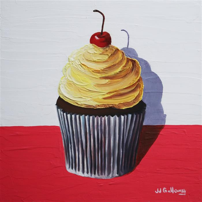 Original art for sale at UGallery.com | Cherry on Top II by JJ Galloway | $575 | oil painting | 12' h x 12' w | ..\art\oil-painting-Cherry-on-Top-II