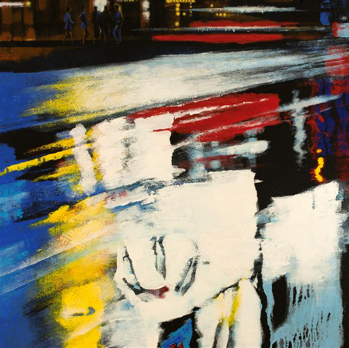Original art for sale at UGallery.com | Urban Reflection by STANISLAV SIDOROV | $1,850 |  | 36' h x 36' w | ..\art\acrylic-painting-Urban-Reflection-57297