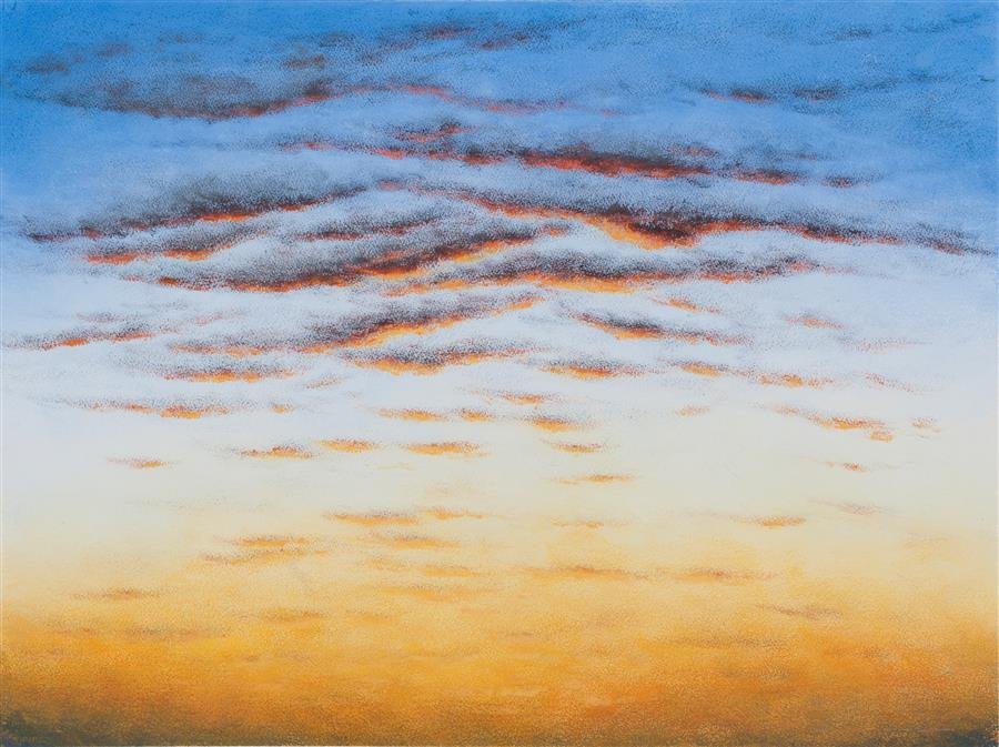 Original art for sale at UGallery.com | Dawn's Golden Glow by LAURA GUESE | $775 |  | 22' h x 30' w | ..\art\gouache-painting-Dawn-s-Golden-Glow