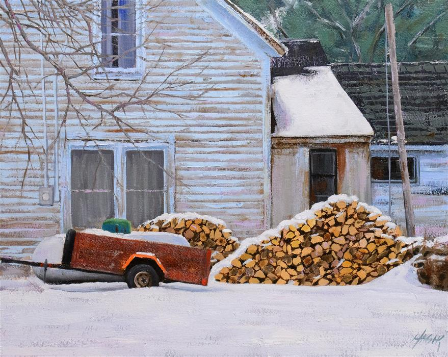 Original art for sale at UGallery.com | Ready For Winter by NATHAN HAGER | $1,325 |  | 16' h x 20' w | ..\art\oil-painting-Ready-For-Winter