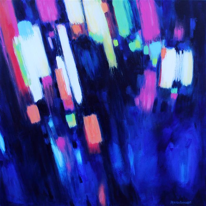 Original art for sale at UGallery.com | Neon Life by MARIE-EVE CHAMPAGNE | $500 |  | 20' h x 20' w | ..\art\acrylic-painting-Neon-Life