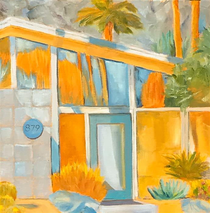 Original art for sale at UGallery.com | Palm Springs 879 by MANDY MAIN | $550 |  | 12' h x 12' w | ..\art\oil-painting-Palm-Springs-879