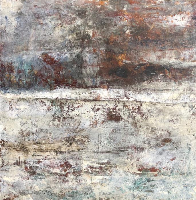 Original art for sale at UGallery.com | Quietude by Maya Malioutina | $900 | mixed media artwork | 18' h x 18' w | ..\art\mixed-media-artwork-Quietude