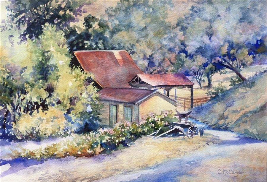 Original art for sale at UGallery.com | Early Light by CATHERINE MCCARGAR | $875 |  | 14' h x 20' w | ..\art\watercolor-painting-Early-Light