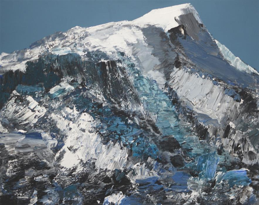 Original art for sale at UGallery.com | Timberline Rift by DAVID D'AGOSTINO | $2,375 |  | 24' h x 30' w | ..\art\mixed-media-artwork-Timberline-Rift