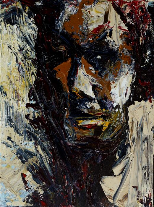 Original art for sale at UGallery.com | Portrait of an Immigrant by WYNSTON EDUN | $400 |  | 12' h x 9' w | ..\art\acrylic-painting-Portrait-of-an-Immigrant