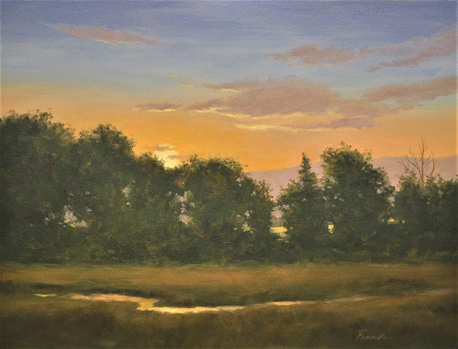 Original art for sale at UGallery.com | Sunset Bliss by ROBERT PENNOR | $1,000 |  | 18' h x 24' w | ..\art\oil-painting-Sunset-Bliss