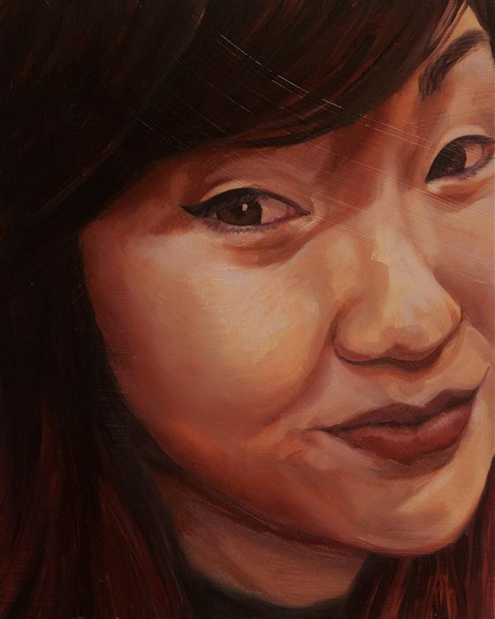 Original art for sale at UGallery.com | Beth by Shaina Craft | $650 | oil painting | 10' h x 8' w | ..\art\oil-painting-Beth