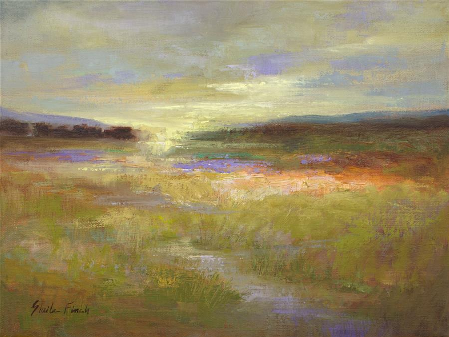 Original art for sale at UGallery.com | Meadow by SHEILA FINCH | $875 |  | 9' h x 12' w | ..\art\oil-painting-Meadow-57700