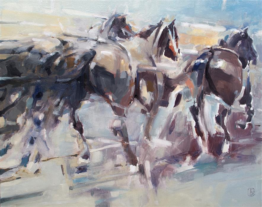 Original art for sale at UGallery.com | Gallop by TONY BELOBRAJDIC | $2,800 |  | 20' h x 24' w | ..\art\oil-painting-Gallop