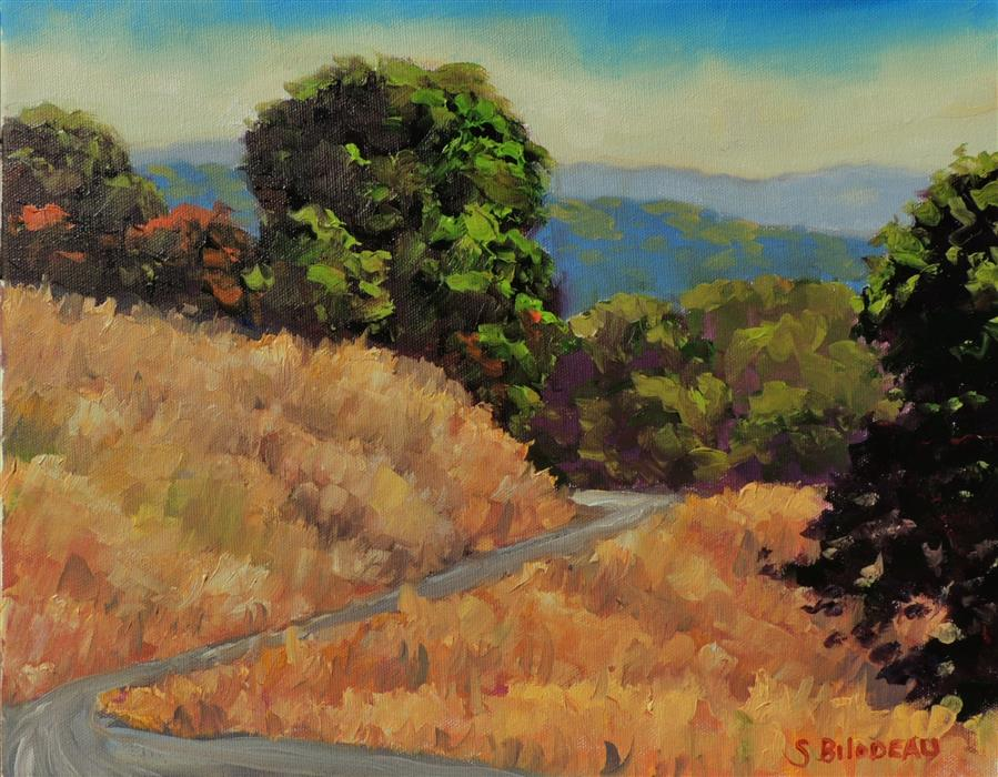 Original art for sale at UGallery.com | Mendocino Hills by STEVEN GUY BILODEAU | $475 |  | 11' h x 14' w | ..\art\oil-painting-Mendocino-Hills