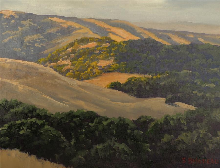 Original art for sale at UGallery.com | Loma Alta Vista by Steven Guy Bilodeau | $525 | oil painting | 12' h x 16' w | ..\art\oil-painting-Loma-Alta-Vista