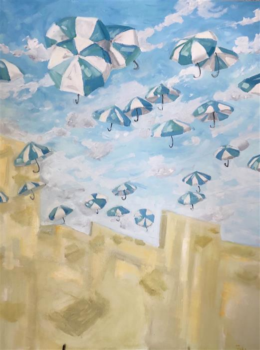Original art for sale at UGallery.com | Fly Away by Patricia Fabian | $4,000 | oil painting | 48' h x 36' w | ..\art\oil-painting-Fly-Away-57812