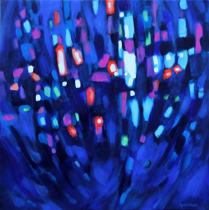 Original art for sale at UGallery.com | Dancing Lights by MARIE-EVE CHAMPAGNE | $500 |  | 20' h x 20' w | ..\art\acrylic-painting-Dancing-Lights