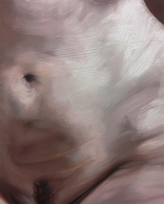 Original art for sale at UGallery.com | Pink Belly by SHAINA CRAFT | $575 |  | 10' h x 8' w | ..\art\oil-painting-Pink-Belly