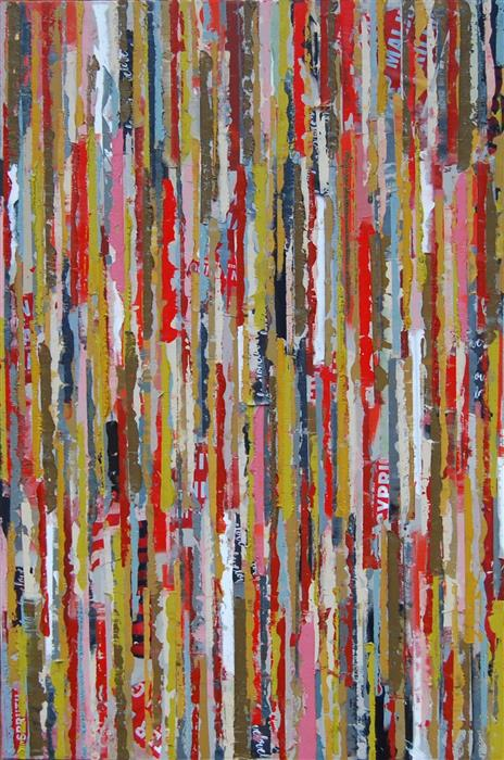 Original art for sale at UGallery.com | S122 by JANET HAMILTON | $1,400 |  | 36' h x 24' w | ..\art\mixed-media-artwork-S122