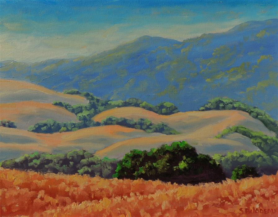 Original art for sale at UGallery.com | Golden Hills in Summer by STEVEN GUY BILODEAU | $675 |  | 14' h x 18' w | ..\art\oil-painting-Golden-Hills-in-Summer