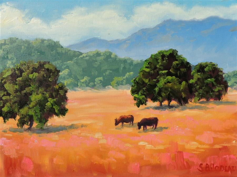 Original art for sale at UGallery.com | Pope Valley by STEVEN GUY BILODEAU | $525 |  | 12' h x 16' w | ..\art\oil-painting-Pope-Valley