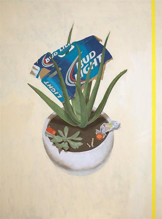 Original art for sale at UGallery.com | Aloe Vera Budlight by Ryan Park | $3,475 | oil painting | 48' h x 36' w | ..\art\oil-painting-Aloe-Vera-Budlight