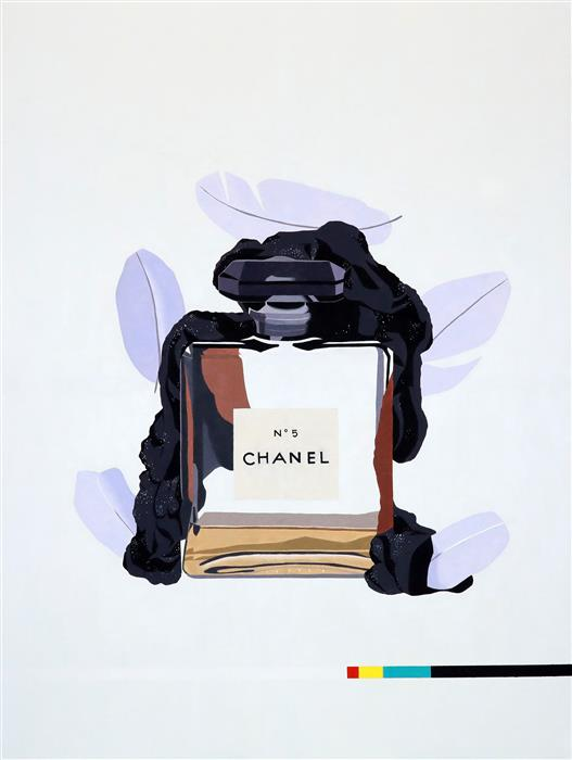 Original art for sale at UGallery.com | Chanel No. 5 (Purple) by Ryan Park | $3,475 | oil painting | 48' h x 36' w | ..\art\oil-painting-Chanel-No-5-Purple