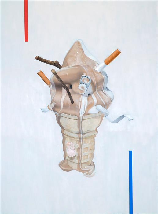 Original art for sale at UGallery.com | Ice Cream Cone by RYAN PARK | $3,200 |  | 48' h x 36' w | ..\art\oil-painting-Ice-Cream-Cone