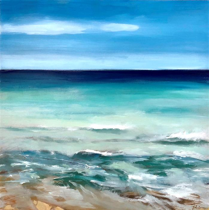 Original art for sale at UGallery.com | Sea Breeze by PATRICIA FABIAN | $3,150 |  | 36' h x 36' w | ..\art\acrylic-painting-Sea-Breeze-58095