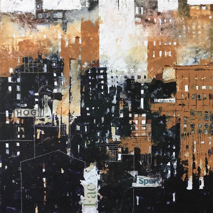 Original art for sale at UGallery.com | Fantastic Cities: Gallery Maxi by ALESSANDRO ANDREUCCETTI | $1,000 |  | 20' h x 20' w | ..\art\mixed-media-artwork-Fantastic-Cities-Gallery-Maxi