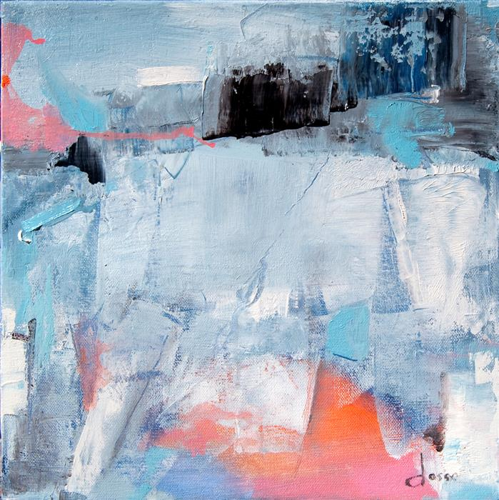 Original art for sale at UGallery.com | Arctic Ice One by ANNE DOSSO-POWELL | $550 |  | 12' h x 12' w | ..\art\oil-painting-Arctic-Ice-One