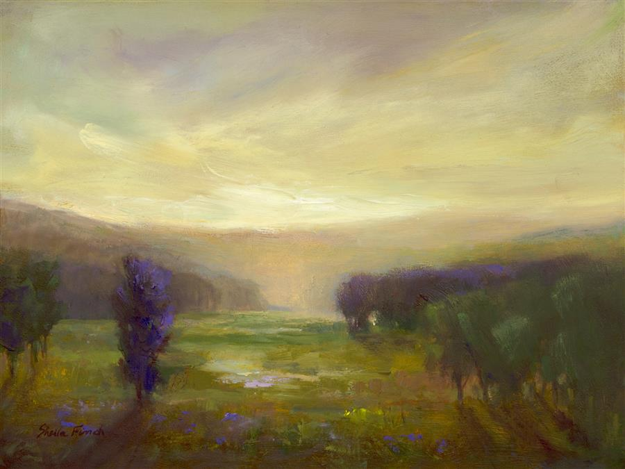 Original art for sale at UGallery.com | Carried By The Light by SHEILA FINCH | $475 |  | 6' h x 8' w | ..\art\oil-painting-Carried-By-The-Light