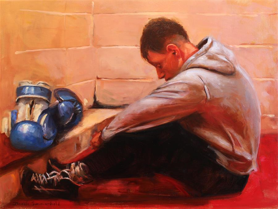 Original art for sale at UGallery.com | Between Rounds by JONELLE SUMMERFIELD | $925 |  | 18' h x 24' w | ..\art\oil-painting-Between-Rounds