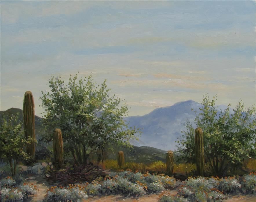 Original art for sale at UGallery.com | East of Spring by RON KENYON | $825 |  | 16' h x 20' w | ..\art\oil-painting-East-of-Spring