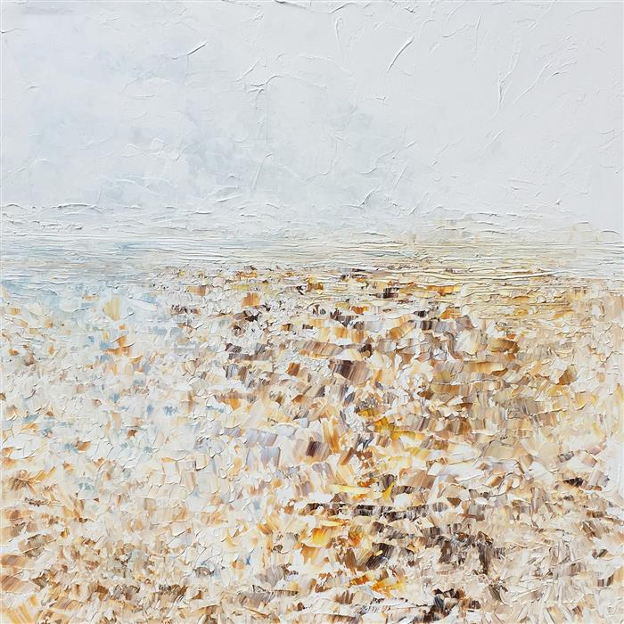 Original art for sale at UGallery.com | Water's Edge by RUTH LAGUE | $3,750 |  | 36' h x 36' w | ..\art\acrylic-painting-Water-s-Edge-58260