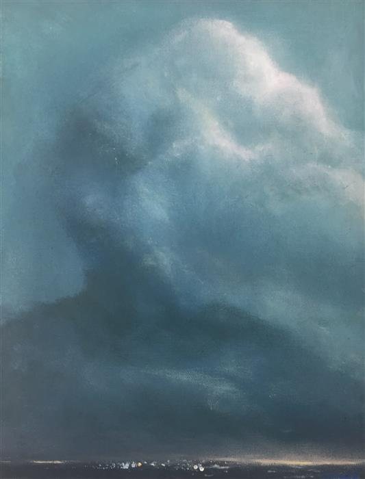 Original art for sale at UGallery.com | Heavy Sky by DANIEL HARRIS | $475 |  | 14.5' h x 11' w | ..\art\oil-painting-Heavy-Sky