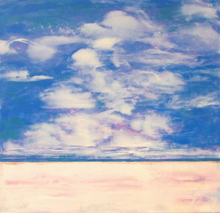Original art for sale at UGallery.com | Cloud Nine by Valerie Berkely | $950 | oil painting | 24' h x 24' w | ..\art\oil-painting-Cloud-Nine