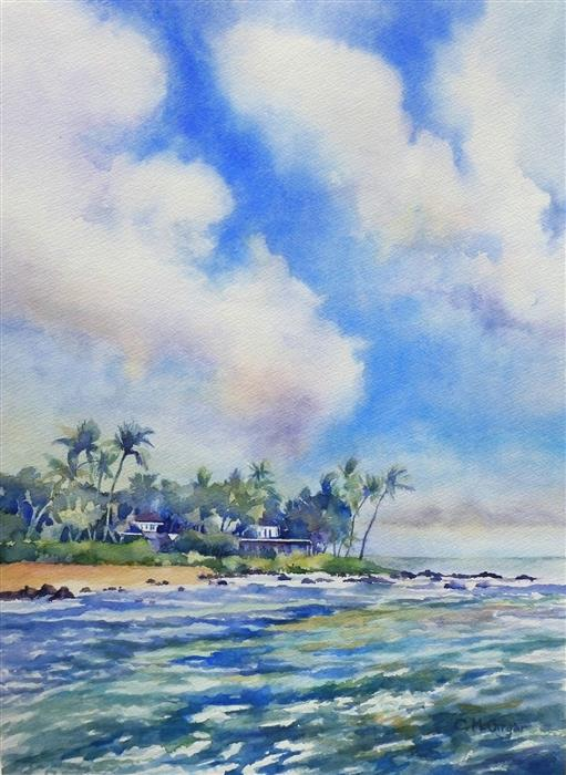 Original art for sale at UGallery.com | Kauai by CATHERINE MCCARGAR | $900 |  | 19' h x 14' w | ..\art\watercolor-painting-Kauai