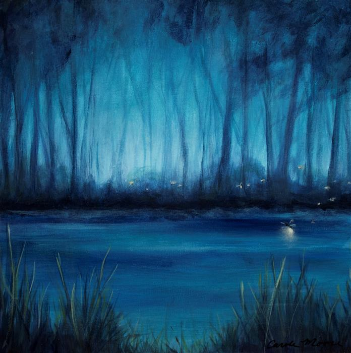 Original art for sale at UGallery.com | Blue Marsh I by CAROLE MOORE | $700 |  | 16' h x 16' w | ..\art\acrylic-painting-Blue-Marsh-I