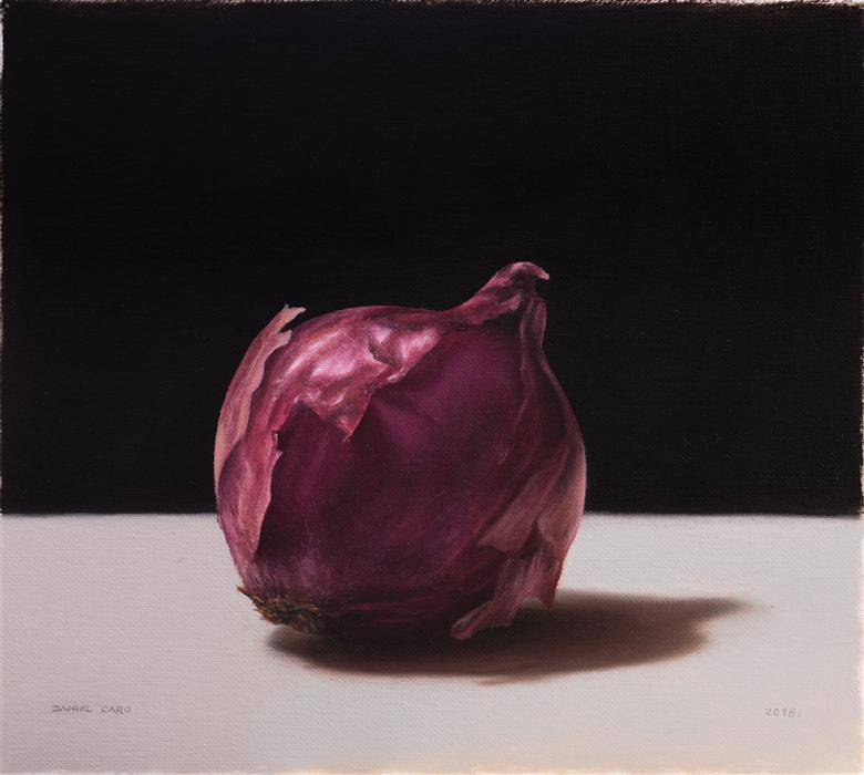 Original art for sale at UGallery.com | Onion by DANIEL CARO | $650 |  | 7.08' h x 7.87' w | ..\art\oil-painting-Onion