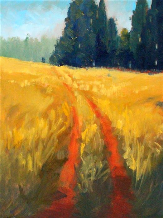 Original art for sale at UGallery.com | Country Trail by Nancy Merkle | $750 | oil painting | 24' h x 18' w | ..\art\oil-painting-Country-Trail