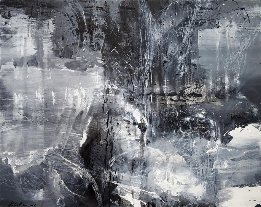Original art for sale at UGallery.com | Between The Black and Divine 4 by KLOSKA OVIDIU | $2,650 |  | 32' h x 40' w | ..\art\acrylic-painting-Between-The-Black-and-Divine-4