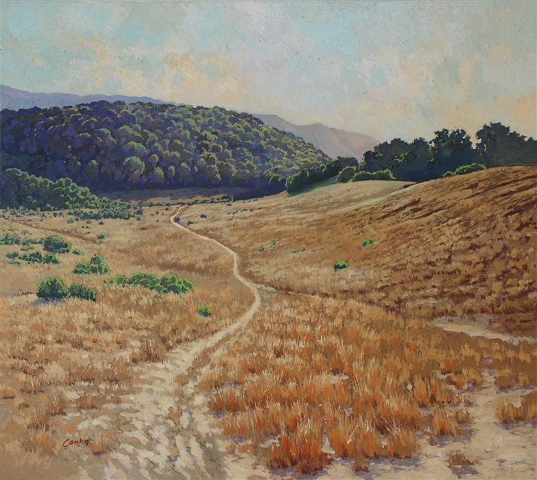 Original art for sale at UGallery.com | Trail by STEFAN CONKA | $2,300 |  | 29.5' h x 33.4' w | ..\art\oil-painting-Trail-58642