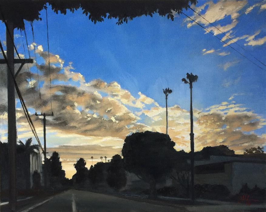 Original art for sale at UGallery.com | Cold California by Jesse Aldana | $625 | oil painting | 16' h x 20' w | ..\art\oil-painting-Cold-California