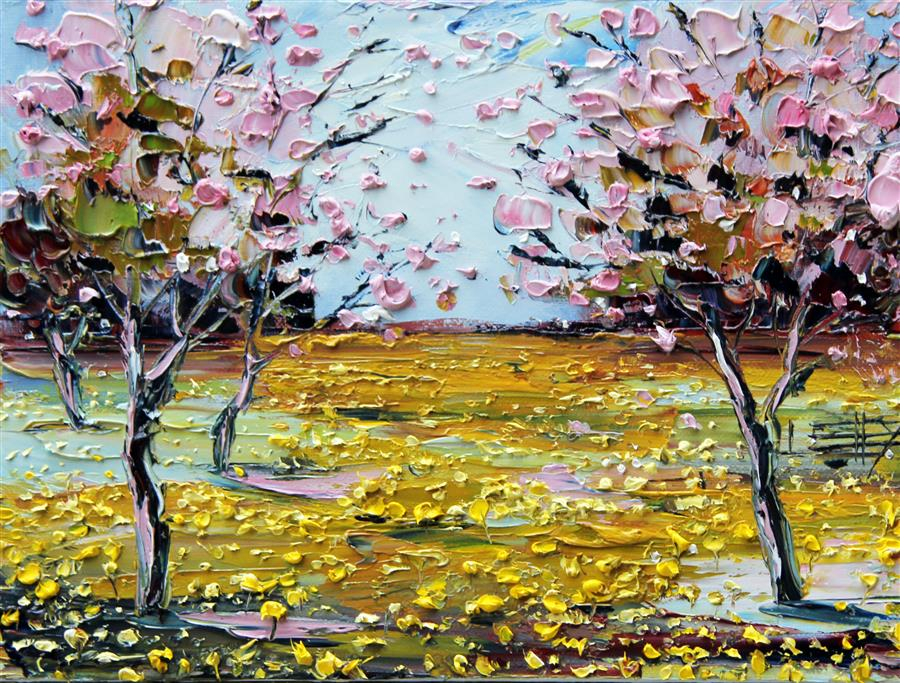 Original art for sale at UGallery.com | Spring Is in the Air! by LISA ELLEY | $300 |  | 9' h x 12' w | ..\art\oil-painting-Spring-Is-in-the-Air