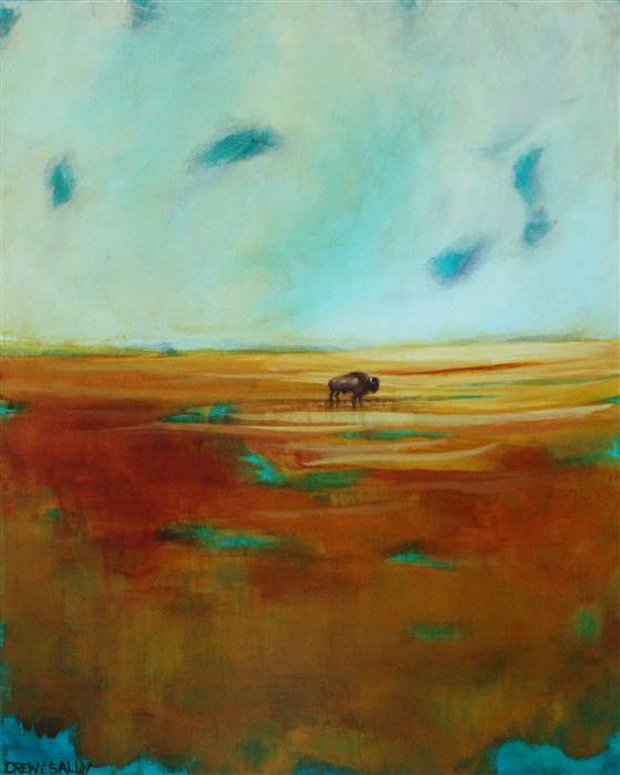 Original art for sale at UGallery.com | The Great Plains by DREW NOEL MARIN | $825 |  | 20' h x 16' w | ..\art\acrylic-painting-The-Great-Plains
