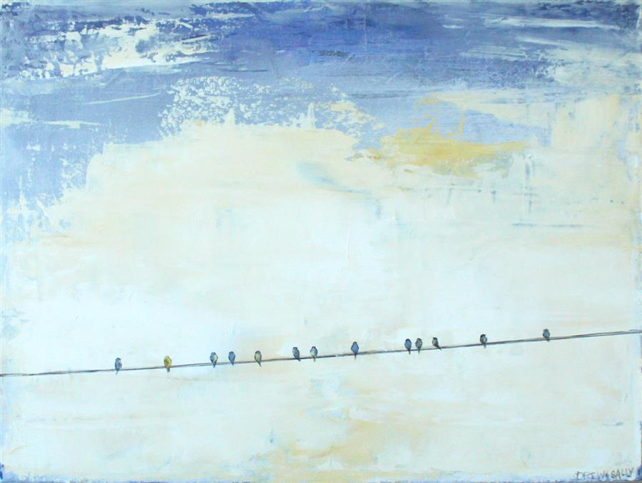 Original art for sale at UGallery.com | The Sky's the Limit II by SALLY ADAMS | $1,025 |  | 18' h x 24' w | ..\art\acrylic-painting-The-Sky-s-the-Limit-II