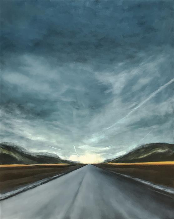 Original art for sale at UGallery.com | The Road Less Traveled II by MANDY MAIN | $4,125 |  | 60' h x 48' w | ..\art\oil-painting-The-Road-Less-Traveled-II