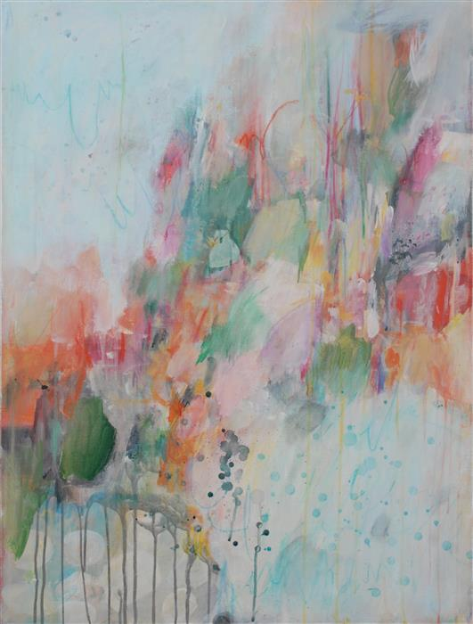 Original art for sale at UGallery.com | It's a Messy Situation by PINA LOVES | $1,150 |  | 40' h x 30' w | ..\art\mixed-media-artwork-It-s-a-Messy-Situation