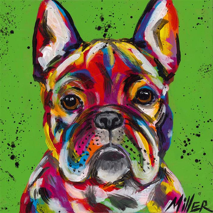 Original art for sale at UGallery.com | Frenchie by TRACY MILLER | $375 |  | 12' h x 12' w | ..\art\acrylic-painting-Frenchie