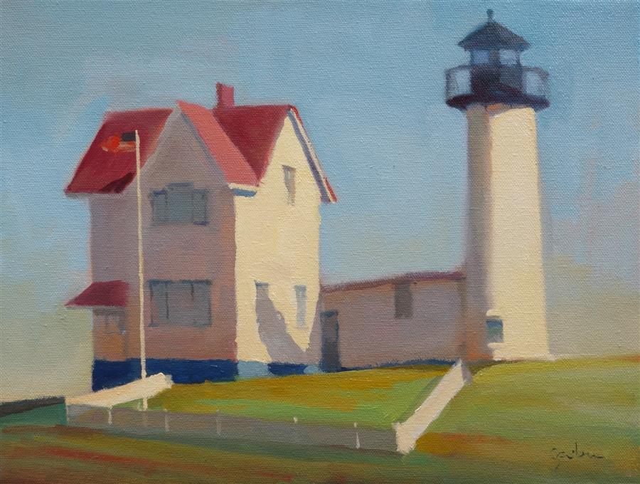 Original art for sale at UGallery.com | Cape Neddick by GEORGE SCRIBNER | $1,000 |  | 11' h x 14' w | ..\art\oil-painting-Cape-Neddick