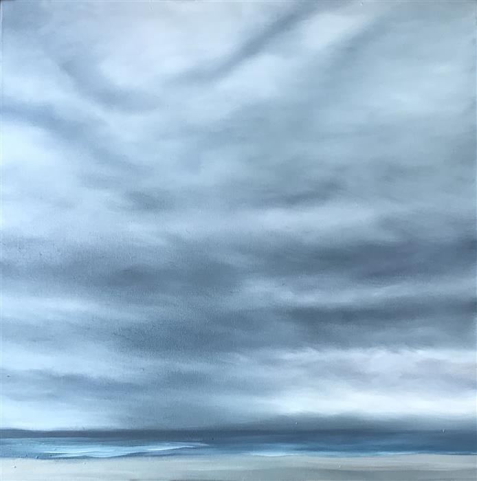 Original art for sale at UGallery.com | Beach Mist by KELLY MONEY | $650 |  | 24' h x 24' w | ..\art\oil-painting-Beach-Mist